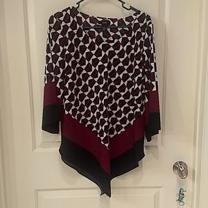 Alfani multicolored blouse with 3/4 sleeve